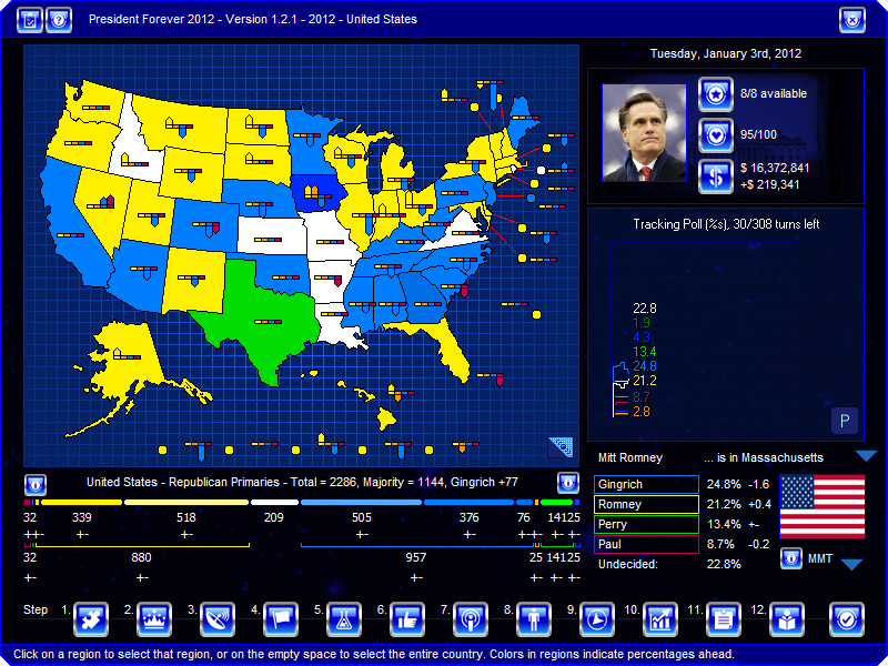 In 2012 Romney S Path To The Nomination Must Go Through Gingrich Territory
