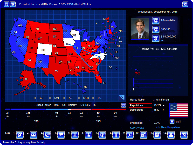 President Election Game Softcom - Us election map game