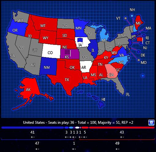 Senate 2014 Map