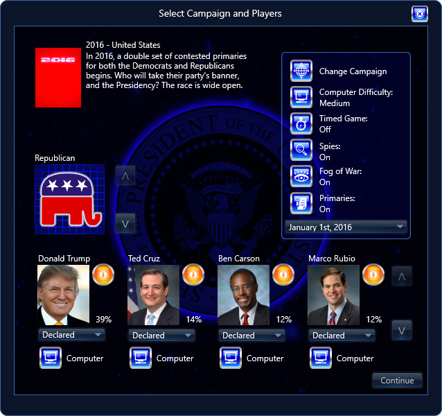 President Infinity Select Campaign Republicans